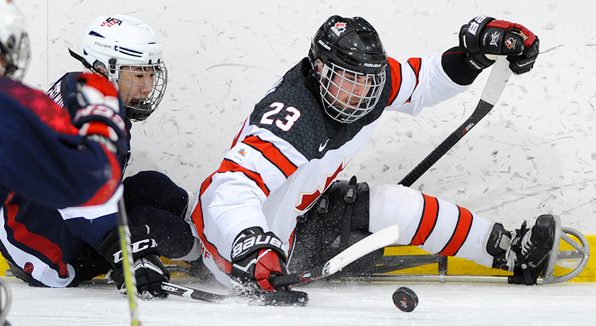 Sledge hockey - Six international sports are featured on Défi sportif AlterGo 2018 program