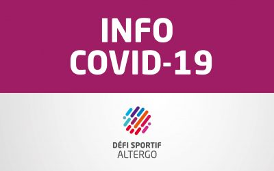 COVID-19 : Status of the 37e Défi sportif AlterGo